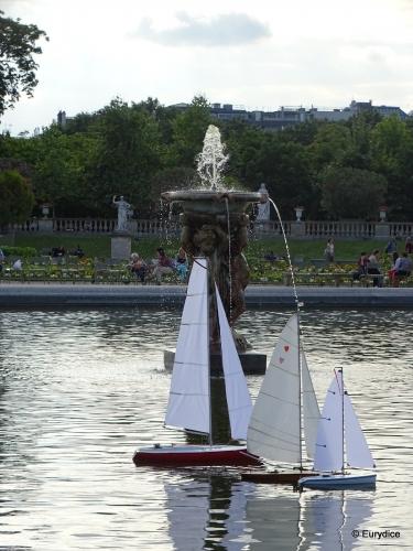 Paris, bateau, jardin du Lexembourg