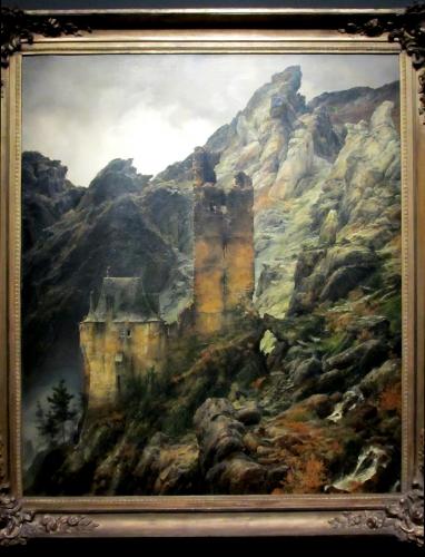 paysage-montagneux---ruines dans une gorge LESSING.jpg